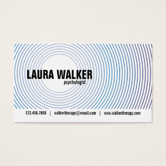Hypnosis Circles - Blue Business Card