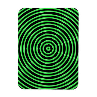 Hypnosis Circles green Flexible Magnet