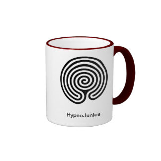Hypnosis Junkie Red and White Mug Labyrinth