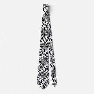 Hypnosis Pattern black & white + your idea Tie