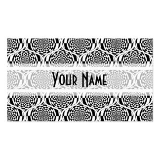Hypnosis Pattern black white + your ideas Business Cards