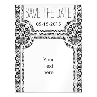 Hypnosis Pattern black white + your ideas Magnetic Card