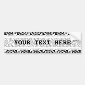 Hypnosis Pattern black white + your text Bumper Sticker
