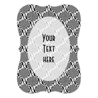 Hypnosis Pattern black white + your text Card
