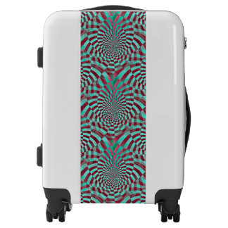 Hypnosis Pattern red turquoise + your ideas Luggage