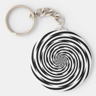 Hypnosis Spiral Basic Round Button Keychain