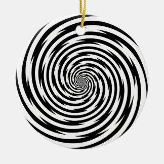 Hypnosis Spiral Ceramic Ornament