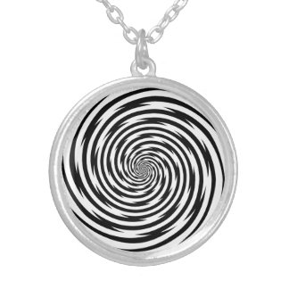 Hypnosis Spiral Silver Plated Necklace