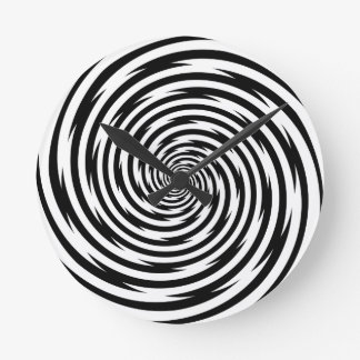 Hypnosis Spiral Time Twisting Wall Clock