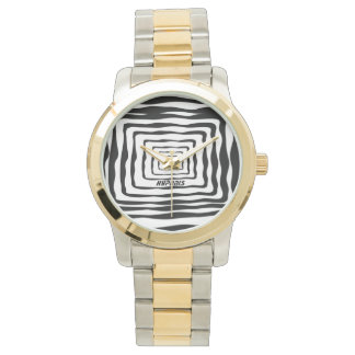 Hypnosis two tone watch