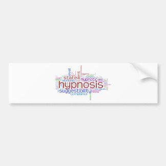 Hypnosis Word Art Bumper Sticker