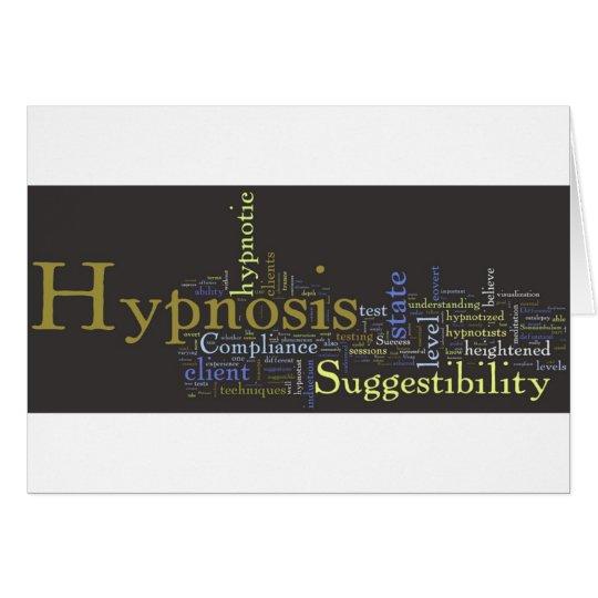 Hypnosis Works Word Art Card