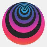 Hypnoswirl púrpura y azul etiqueta redonda