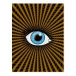 Hypnotic Blue Eye Post Card