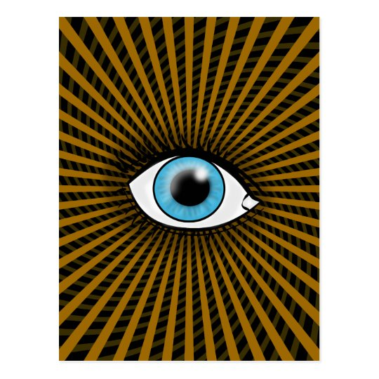 Hypnotic Blue Eye Postcard