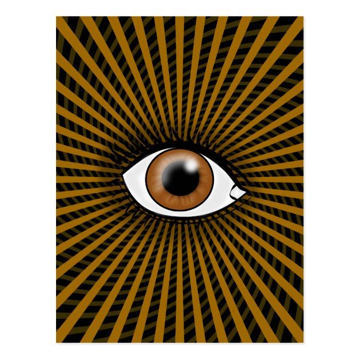 Hypnotic Brown Eye Postcard