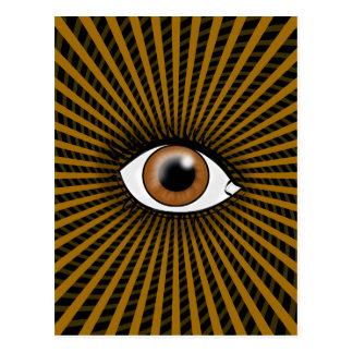 Hypnotic Brown Eye Postcards