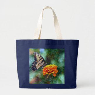 Hypnotic Butterfly Large Tote Bag
