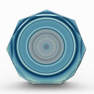 Hypnotic Circle Aqua White Acrylic Award