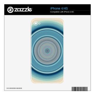 Hypnotic Circle Aqua White Skin For iPhone 4S