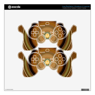 Hypnotic Circle Brown Decal For PS3 Controller