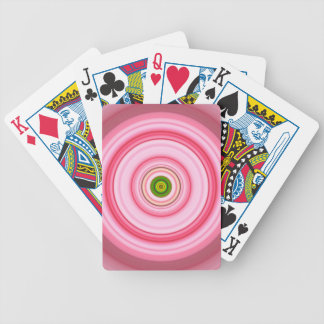 Hypnotic Circle Fuchsia Green Bicycle Playing Cards
