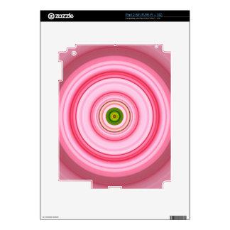 Hypnotic Circle Fuchsia Green iPad 2 Skins