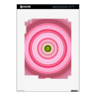 Hypnotic Circle Fuchsia Green iPad 3 Skin