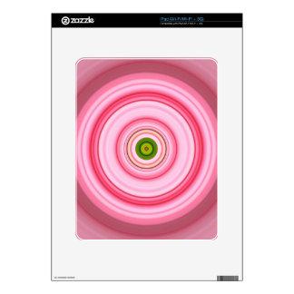 Hypnotic Circle Fuchsia Green Skins For The iPad