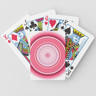 Hypnotic Circle Fuchsia White Bicycle Playing Cards