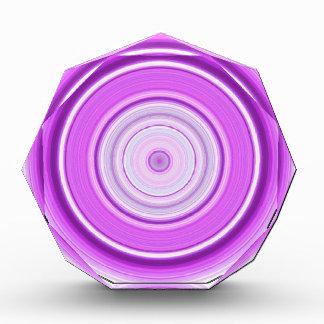 Hypnotic Circle Purple Acrylic Award