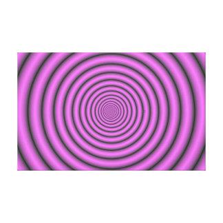 Hypnotic circles canvas print