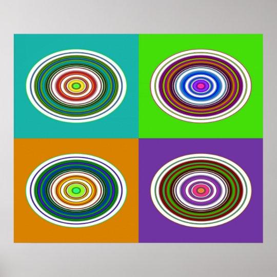 Hypnotic Circles Poster