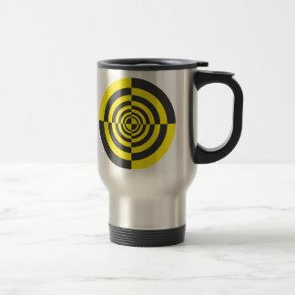 Hypnotic circles travel mug