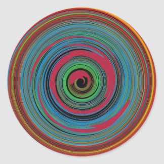 hypnotic classic round sticker
