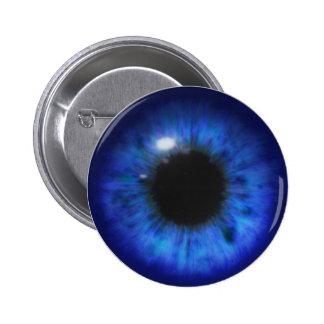 Hypnotic Deep Blue eyes 2 Inch Round Button