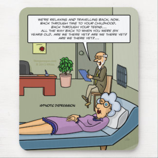 Hypnotic Depression Mousepad