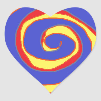 HYPNOTIC DESIGN FOR ALL OCCASIONS HEART STICKER