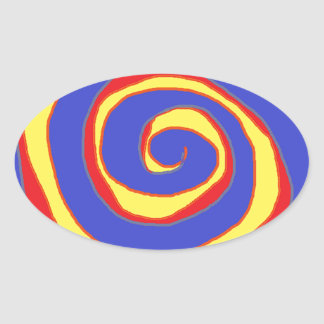 HYPNOTIC DESIGN FOR ALL OCCASIONS OVAL STICKER