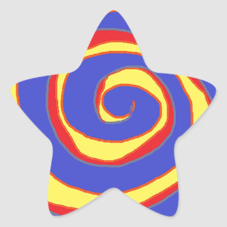 HYPNOTIC DESIGN FOR ALL OCCASIONS STAR STICKER