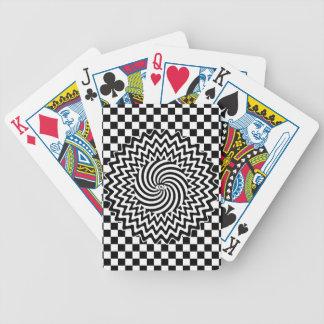 Hypnotic eye bicycle playing cards