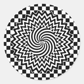 Hypnotic eye classic round sticker