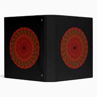 Hypnotic Eye - Flame 3 Ring Binder