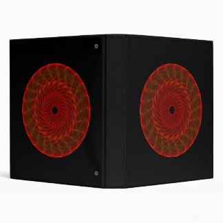Hypnotic Eye - Flame 3 Ring Binders