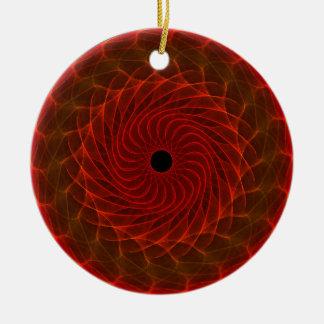 Hypnotic Eye - Flame Ceramic Ornament