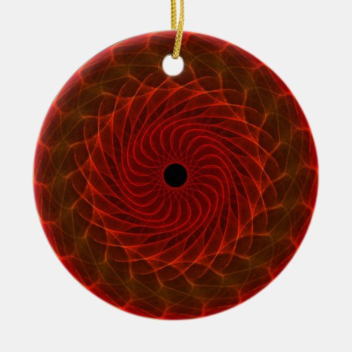 Hypnotic Eye - Flame Double-Sided Ceramic Round Christmas Ornament