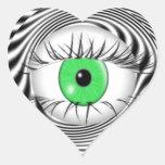 HYPNOTIC EYE - HYPNOTIST HEART STICKER