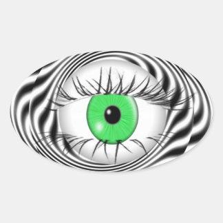 HYPNOTIC EYE - HYPNOTIST OVAL STICKER