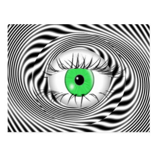 HYPNOTIC EYE - HYPNOTIST POSTCARD