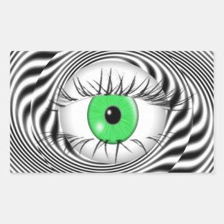 HYPNOTIC EYE - HYPNOTIST RECTANGULAR STICKER